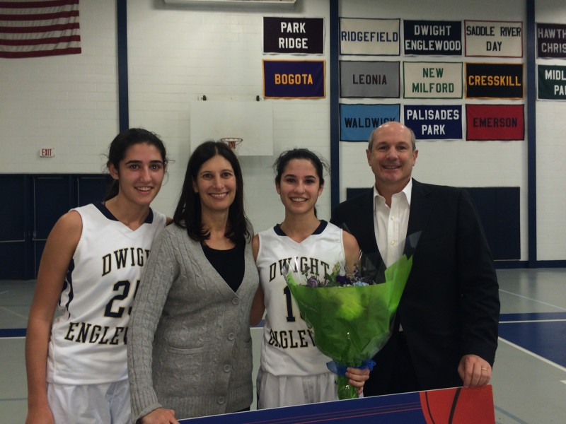 Pictured with Stella are her sister Alexis '15, mom Katina '78 and dad Jeffrey.