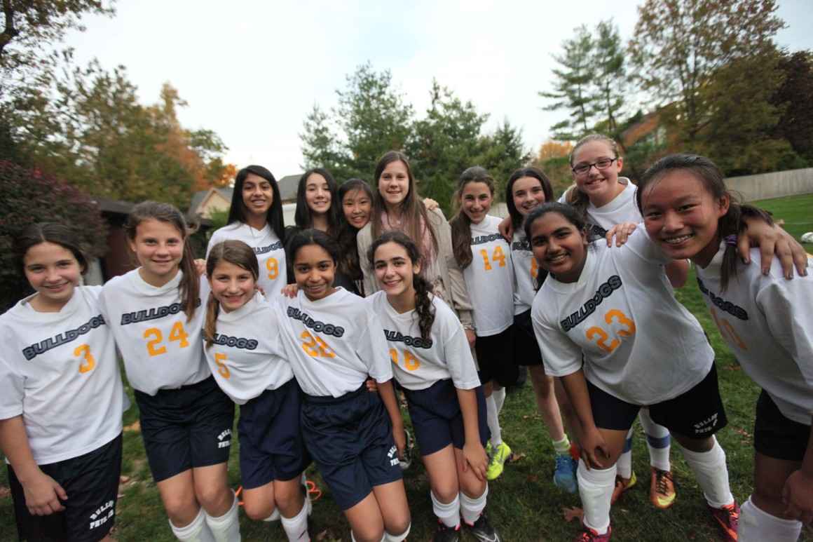 The Middle School girls soccer team 2014