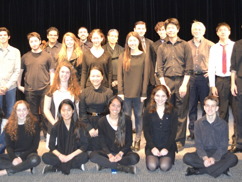 The student and faculty performers of the Benefit Concert.