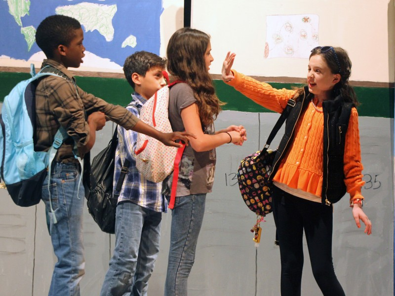 """A scene from this year's Fifth Grade Opera, """"The True Test"""""""