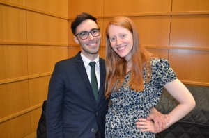 Featured keynote speaker Hugh Baran '05 was joined by fellow alumna Hannah Jones at at the 2016 Cum Laude Society Dinner.