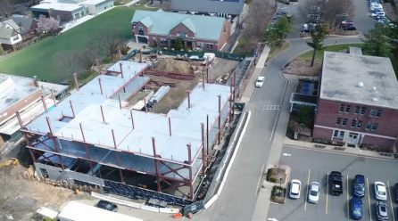 The Village Project: Middle School Building Construction Update (Beam Signing and Installation 4/12/2019)
