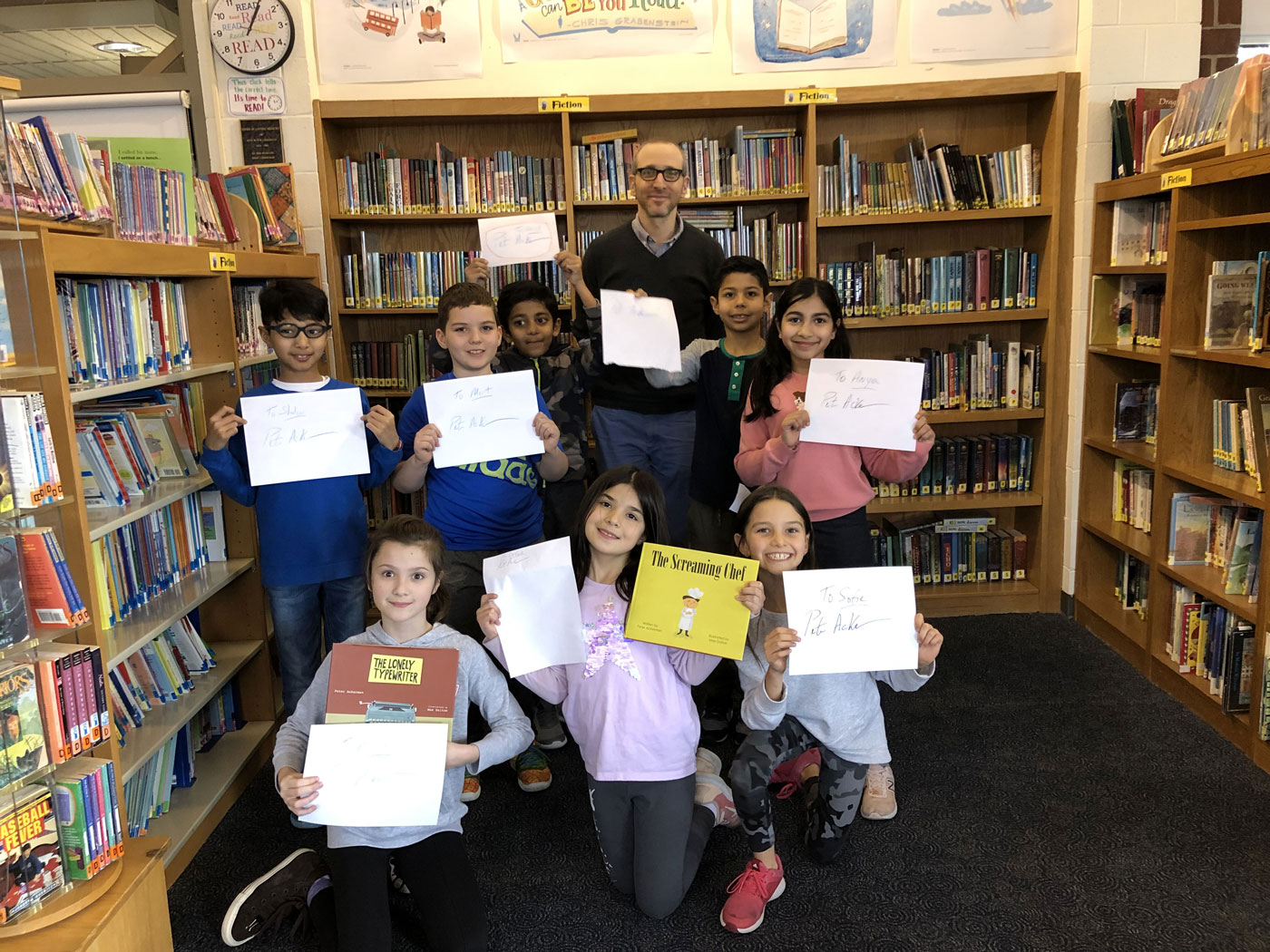 Author Peter Ackerman Visits the Lower School